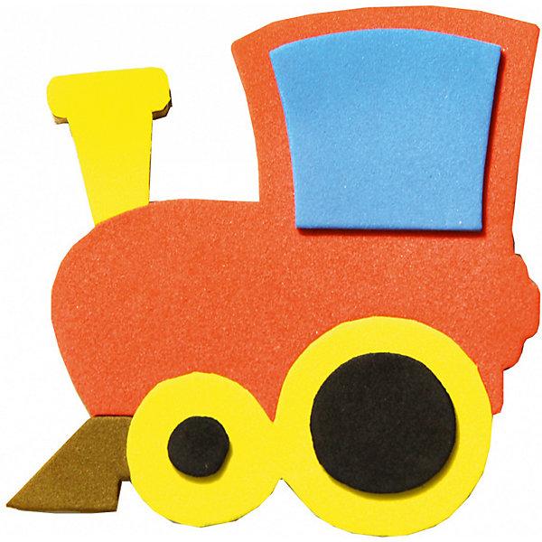 Аппликация на магнитике ПаровозБумага<br>Характеристики:<br><br>• тип игрушки: аппликация;<br>• возраст: от 3 лет;<br>• материал: дерево, текстиль;<br>• комплектация: деревянная заготовка, самоклеющиеся детали из EVA, магнит;<br>• вес: 80 гр;<br>• размер: 13х20х0,3 см;<br>• бренд: Санта-Лючия.<br>   <br>Аппликация на магнитике «Паровоз» поможет ребенку сделать радужный магнит своими руками. В составе: основа-заготовка для магнитика и самоклеющиеся детали из Eva-материала. Набор поможет в развитии логики и моторики вашего ребенка, а готовый магнитик станет поводом для радости!  Цвет изделия может отличаться от примера на упаковке.<br><br>Аппликацию на магнитике «Паровоз» можно купить в нашем интернет-магазине.<br>Ширина мм: 130; Глубина мм: 3; Высота мм: 200; Вес г: 80; Цвет: разноцветный; Возраст от месяцев: 3; Возраст до месяцев: 2147483647; Пол: Унисекс; Возраст: Детский; SKU: 7769371;