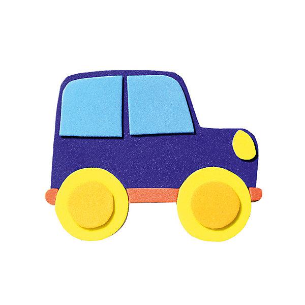 Аппликация на магнитике АвтомобильБумага<br>Характеристики:<br><br>• тип игрушки: аппликация;<br>• возраст: от 3 лет;<br>• материал: дерево, текстиль;<br>• комплектация: деревянная заготовка, самоклеющиеся детали из EVA, магнит;<br>• вес: 80 гр;<br>• размер: 13х20х0,3 см;<br>• бренд: Санта-Лючия.<br>   <br>Аппликация на магнитике «Автомобиль» поможет ребенку сделать радужный магнит своими руками. В составе: основа-заготовка для магнитика и самоклеющиеся детали из Eva-материала. Набор поможет в развитии логики и моторики вашего ребенка, а готовый магнитик станет поводом для радости!  Цвет изделия может отличаться от примера на упаковке.<br><br>Аппликацию на магнитике «Автомобиль» можно купить в нашем интернет-магазине.<br>Ширина мм: 130; Глубина мм: 3; Высота мм: 200; Вес г: 80; Цвет: разноцветный; Возраст от месяцев: 3; Возраст до месяцев: 2147483647; Пол: Унисекс; Возраст: Детский; SKU: 7769409;