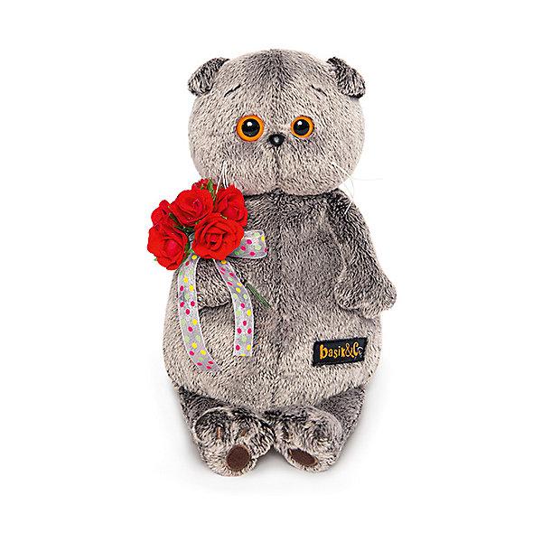 Мягкая игрушка Budi Basa Кот Басик с букетом красных роз, 19 смМягкие игрушки животные<br>Характеристики товара:<br><br>• возраст: от 3 лет;<br>• материал: текстиль, искусственный мех;<br>• высота игрушки: 19 см;<br>• размер упаковки:25х15х12 см;<br>• вес упаковки: 340 гр.;<br>• страна производитель: Россия.<br><br>Мягкая игрушка «Басик с букетом красных роз» Budi Basa - очаровательный пушистый котенок с добрыми глазками. Он держит в лапках большой букет плюшевых цветов.<br><br>Игрушка выполнена из качественного безопасного материала, настолько приятного и мягкого, что ребенок будет братьего с собой на прогулку или в кроватку и спать в обнимку.<br><br>Мягкую игрушку «Басик с букетом», 19 см., Budi Basa можно приобрести в нашем интернет-магазине.<br>Ширина мм: 215; Глубина мм: 140; Высота мм: 100; Вес г: 362; Цвет: коричневый; Возраст от месяцев: 36; Возраст до месяцев: 168; Пол: Унисекс; Возраст: Детский; SKU: 7771063;