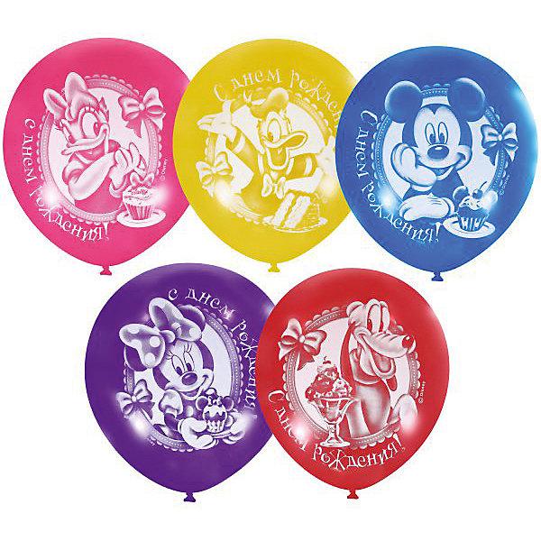 Купить Воздушные шары Latex Occidental Дисней. С днём рождения 50 шт., пастель + декоратор, Мексика, Унисекс