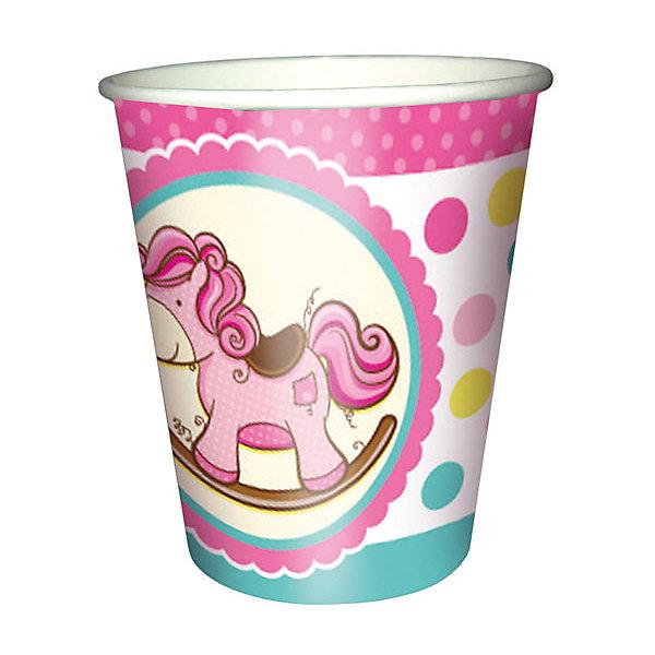 F 250мл Стаканы бумажные Лошадка Малышка розовая 6штСтаканы<br>Характеристики:<br><br>• тип товара: стаканы;<br>• возраст: от 3 лет;<br>• комплектация: 6 шт;<br>• цвет: розовый;<br>• объем: 250 мл;<br>• материал: бумага;<br>• вес: 37 гр;<br>• размер: 20,5х20,5х2 см;<br>• бренд: Патибум.<br>   <br>Стаканы бумажные «Лошадка Малыш розовая» 6шт ходят в состав коллекции праздничной одноразовой посуды «Лошадка Малыш розовая» и лучше всего их использовать для сервировки праздничного стола вместе с другими элементами из этой коллекции: тарелочки, скатерть и карнавальные аксессуары коллекции.<br>   <br>Стаканы бумажные «Лошадка Малыш розовая» 6шт можно купить в нашем интернет-магазине.<br>Ширина мм: 90; Глубина мм: 90; Высота мм: 60; Вес г: 40; Возраст от месяцев: 36; Возраст до месяцев: 2147483647; Пол: Женский; Возраст: Детский; SKU: 7771097;