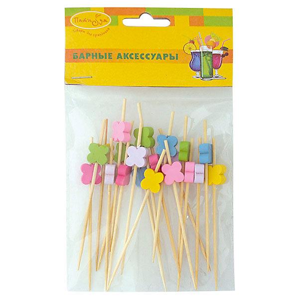 BA Шпажки для канапе бамбуковые Цветы 20штАксессуары для детского праздника<br>Характеристики:<br><br>• тип товара: шпажки;<br>• возраст: от 3 лет;<br>• комплектация: 20 шт;<br>• цвет: ассорти;<br>• материал: бамбук;<br>• вес: 15 гр;<br>• размер: 9х9х1 см;<br>• бренд: Патибум.<br>   <br>Шпажки для канапе бамбуковые «Цветы» 20шт  используются при сервировке банкетного стола, служат дополнительным украшением стола и придают сервировке праздничное настроение.<br><br>Шпажки для канапе бамбуковые «Цветы» 20шт  можно купить в нашем интернет-магазине.<br>Ширина мм: 90; Глубина мм: 90; Высота мм: 10; Вес г: 15; Возраст от месяцев: 36; Возраст до месяцев: 2147483647; Пол: Унисекс; Возраст: Детский; SKU: 7771133;