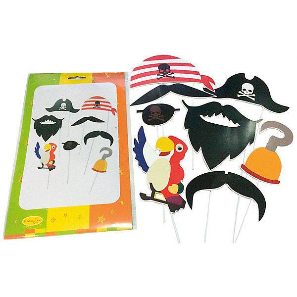 Набор для фотосессии Патибум Пиратская Вечеринка, 8 шт.Аксессуары для детского праздника<br>Характеристики:<br><br>• тип товара: набор;<br>• возраст: от 3 лет;<br>• комплектация: 8 шт;<br>• цвет: ассорти;<br>• материал: бумага, пластик;<br>• вес: 60  гр;<br>• размер: 33,5х20х0,5 см;<br>• бренд: Патибум.<br>   <br>Набор для фотосессии «Пиратская вечеринка» 8шт подойдет для детей от трех лет и старше. Кто из нас не хотел в детстве побыть пиратом? Наконец-то можно исполнить эту забавную мечту, а еще сделать много фотографий на память. В наборе 8 предметов для фотосессии в образе пирата, идеально подойдет для тематической вечеринки.<br><br>Набор для фотосессии «Пиратская вечеринка» 8шт можно купить в нашем интернет-магазине.<br>Ширина мм: 335; Глубина мм: 200; Высота мм: 5; Вес г: 60; Возраст от месяцев: 36; Возраст до месяцев: 2147483647; Пол: Мужской; Возраст: Детский; SKU: 7771153;