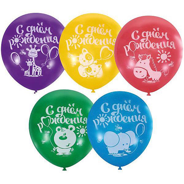 Купить Воздушные шары Latex Occidental С днём рождения 100 шт., пастель + декоратор (шёлк), Мексика, Унисекс