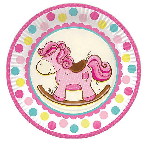 F 23см Тарелки бумажные ламинированные Лошадка Малышка розовая 6штТарелки<br>Характеристики:<br><br>• тип товара: тарелки;<br>• возраст: от 3 лет;<br>• комплектация: 6 шт;<br>• цвет: розовый;<br>• размер: 23 см;<br>• материал: бумага;<br>• вес: 100 гр;<br>• размер: 23,5х23,5х2 см;<br>• бренд: Патибум.<br>   <br>Тарелки бумажные ламинированные «Лошадка Малыш розовая» 6шт 23 см входят в состав коллекции праздничной одноразовой посуды «Лошадка Малыш розовая» и лучше всего их использовать для сервировки праздничного стола вместе с другими элементами из этой коллекции (стаканчики, скатерть и карнавальные аксессуары коллекции «Лошадка Малыш розовая»).<br><br>Тарелки бумажные ламинированные «Лошадка Малыш розовая» 6шт 23 см можно купить в нашем интернет-магазине.<br>Ширина мм: 235; Глубина мм: 235; Высота мм: 20; Вес г: 90; Возраст от месяцев: 36; Возраст до месяцев: 2147483647; Пол: Женский; Возраст: Детский; SKU: 7771201;