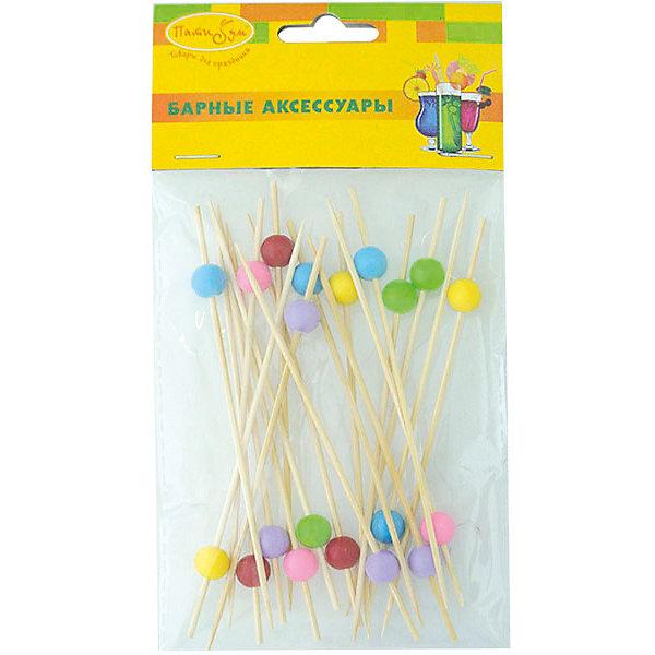 BA Шпажки для канапе бамбуковые Бусинки 20штАксессуары для детского праздника<br>Характеристики:<br><br>• тип товара: шпажки;<br>• возраст: от 3 лет;<br>• комплектация: 20 шт;<br>• цвет: ассорти;<br>• материал: бамбук;<br>• вес: 15 гр;<br>• размер: 9х9х1 см;<br>• бренд: Патибум.<br>   <br>Шпажки для канапе бамбуковые «Бусинки» 20шт  используются при сервировке банкетного стола, служат дополнительным украшением стола и придают сервировке праздничное настроение.<br><br>Шпажки для канапе бамбуковые «Бусинки» 20шт  можно купить в нашем интернет-магазине.<br>Ширина мм: 90; Глубина мм: 90; Высота мм: 10; Вес г: 15; Возраст от месяцев: 36; Возраст до месяцев: 2147483647; Пол: Унисекс; Возраст: Детский; SKU: 7771223;