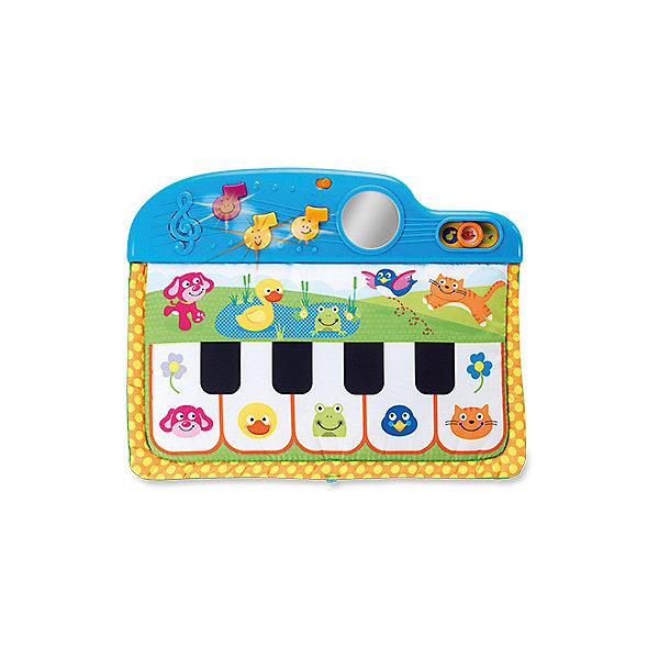 Пианино для кроватки WinFun со звуками и мелодиямиПианино<br>Характеристики товара:<br><br>• возраст: с рождения;<br>• материал: пластик;<br>• тип батареек: 2 батарейки АА;<br>• наличие батареек: в комплект не входят;<br>• размер упаковки: 45,1х35х4,3 см;<br>• вес упаковки: 642 гр.;<br>• страна бренда: Китай.<br><br>Пианино на кроватку WinFun — развивающая игрушка для самых маленьких, которая выполнена в виде синтезатора с кнопками и зеркальцем. Работает игрушка в 3 режимах: музыкальные ноты, звуки животных и мелодии. Игрушка крепится на кроватку.<br><br>Пианино способствует развитию мелкой моторики рук, тактильных ощущений, музыкального слуха, логического мышления. Выполнена из безопасного пластика.<br><br>Пианино на кроватку WinFun можно приобрести в нашем интернет-магазине.<br>Ширина мм: 451; Глубина мм: 350; Высота мм: 43; Вес г: 642; Возраст от месяцев: -2147483648; Возраст до месяцев: 2147483647; Пол: Унисекс; Возраст: Детский; SKU: 7771951;
