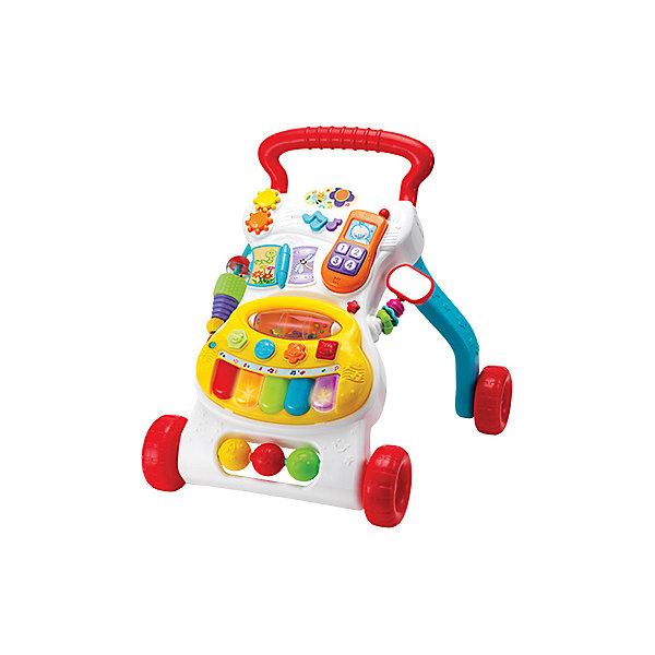 Музыкальный ходунок WinFun  Растем вместеКаталки и качалки<br>Характеристики товара:<br><br>• возраст: от 6 месяцев;<br>• материал: пластик;<br>• размер упаковки: 45х37х10,5 см;<br>• вес упаковки: 1,97 кг;<br>• страна бренда: Китай.<br><br>Музыкальный ходунок WinFun «Растем вместе» - развивающая игрушка, которая поможет малышам делать свои первые шаги и держать равновесие. Она оснащена удобной ручкой, держась за которую, дети толкают ходунок перед собой. Спереди расположены игровые и развивающие элементы, телефонная трубка, музыкальная панель. Выполнена из качественного безопасного пластика.<br><br>Музыкальный ходунок WinFun «Растем вместе» можно приобрести в нашем интернет-магазине.<br>Ширина мм: 370; Глубина мм: 450; Высота мм: 105; Вес г: 1977; Возраст от месяцев: 6; Возраст до месяцев: 2147483647; Пол: Унисекс; Возраст: Детский; SKU: 7771953;