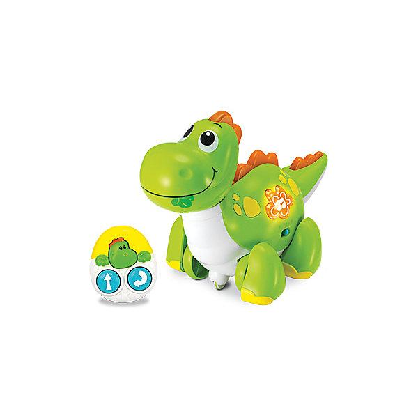 Динозавр WinFun «Погуляй со мной»Интерактивные игрушки для малышей<br>Характеристики товара:<br><br>• возраст: от 1,5 лет;<br>• материал: пластик;<br>• в комплекте: динозавр, пульт;<br>• тип батареек: 3 батарейки АА (для игрушки), 2 батарейки ААА (для пульта);<br>• наличие батареек: в комплект входят батарейки для игрушки;<br>• размер упаковки: 33х23х17 см;<br>• вес упаковки: 966 гр.;<br>• страна бренда: Китай.<br><br>Динозавр WinFun «Погуляй со мной» - игрушка на инфракрасном дистанционном управлении. Благодаря колесикам динозаврик перемещается по полу. Игрушка оснащена световыми и звуковыми эффектами, которые сделают игру еще интересней.<br><br>Динозавра WinFun «Погуляй со мной» можно приобрести в нашем интернет-магазине.<br>Ширина мм: 330; Глубина мм: 230; Высота мм: 170; Вес г: 966; Возраст от месяцев: 18; Возраст до месяцев: 2147483647; Пол: Унисекс; Возраст: Детский; SKU: 7771989;