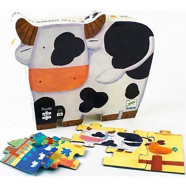 Пазл Djeco Коровы на ферме, 24 элементаПазлы до 24 деталей<br>Характеристики товара:<br><br>• возраст: от 3 лет;<br>• количество деталей: 24 шт;<br>• материал: картон;<br>• размер упаковки: 26х26х6 см;<br>• размер пазла: 42х30 см;<br>• вес упаковки: 650 гр.;<br>• страна бренда: Франция.<br><br>Djeco Пазл, Коровы на ферме – это увлекательный пазл для самых маленьких. Отлично подходит для развития мелкой моторики, логики и усидчивости.<br>Оригинальный пазл познакомит с домашними животными живущими на ферме.<br><br>Djeco Пазл, Коровы на ферме сказок можно купить в нашем интернет-магазине.<br>Ширина мм: 290; Глубина мм: 230; Высота мм: 70; Вес г: 880; Возраст от месяцев: 36; Возраст до месяцев: 2147483647; Пол: Унисекс; Возраст: Детский; SKU: 7772029;