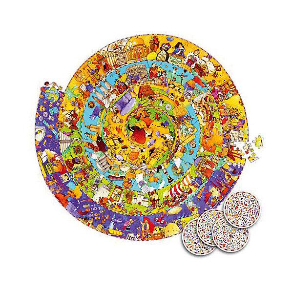 Пазл Djeco История, 350 элементовПазлы до 500 деталей<br>Характеристики товара:<br><br>• возраст: от 5 лет;<br>• количество деталей: 350 шт;<br>• материал: картон;<br>• диаметр: 65 см;<br>• размер упаковки: 26х34х5 см;<br>• вес упаковки: 750 гр.;<br>• страна бренда: Франция.<br><br>Djeco Пазл на наблюдательность История  – это увлекательный пазл для самых маленьких. Отлично подходит для развития мелкой моторики, логики и усидчивости.<br>Пазл имеет необычную круглую форму, на котором изображени разные исторические события.<br><br>Djeco Пазл на наблюдательность История  можно купить в нашем интернет-магазине.<br>Ширина мм: 260; Глубина мм: 340; Высота мм: 50; Вес г: 870; Возраст от месяцев: 84; Возраст до месяцев: 2147483647; Пол: Унисекс; Возраст: Детский; SKU: 7772111;