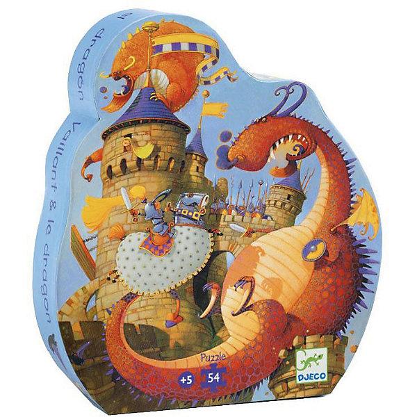 Пазл Djeco Рыцарь и дракон, 35 элементовПазлы для малышей<br>Характеристики товара:<br><br>• возраст: от 3 лет;<br>• количество деталей: 35 шт;<br>• материал: картон;<br>• размер упаковки: 20х31х6 см;<br>• размер пазла: 42х30 см;<br>• вес упаковки: 690 гр.;<br>• страна бренда: Франция.<br><br>Djeco Пазл, Рыцарь и дракон – это увлекательный пазл для самых маленьких. Отлично подходит для развития мелкой моторики, логики и усидчивости.<br>Оригинальный пазл расскажет  как отважный рыцарь сражался со сказочным драконом, защищая свою возлюбленную. <br><br>Djeco Пазл, Рыцарь и дракон можно купить в нашем интернет-магазине.<br>Ширина мм: 60; Глубина мм: 241; Высота мм: 270; Вес г: 734; Возраст от месяцев: 60; Возраст до месяцев: 2147483647; Пол: Унисекс; Возраст: Детский; SKU: 7772127;