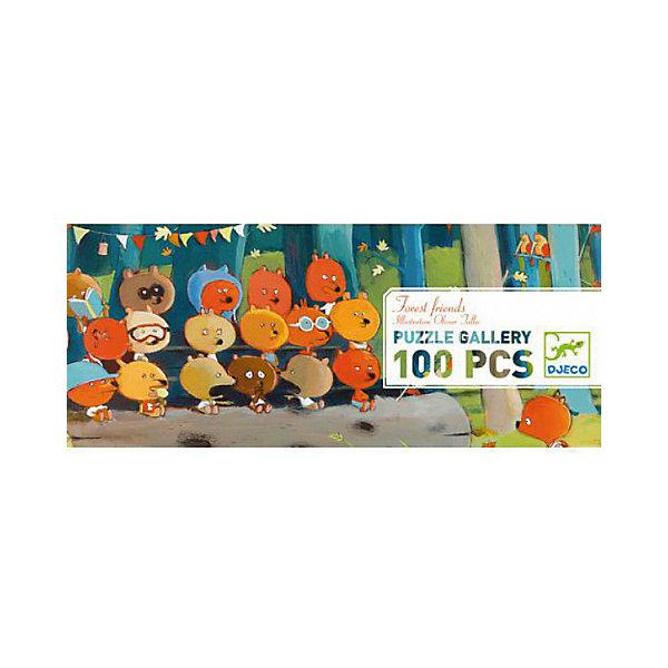 Пазл Djeco Лесные друзья, 100 элементовПазлы до 100 деталей<br>Характеристики товара:<br><br>• возраст: от 5 лет;<br>• количество деталей: 100 шт;<br>• материал: картон;<br>• размер пазла: 97х33 см;<br>• размер упаковки: 35х7х14 см;<br>• вес упаковки: 900 гр.;<br>• страна бренда: Франция.<br><br>Djeco Головоломка (пазл) Лесные друзья  – это увлекательный пазл для самых маленьких. Отлично подходит для развития мелкой моторики, логики и усидчивости.<br>Оригинальный пазл познакомит нас с  забавным медведем, который фотографирует маленьких лисичек и мишек. <br><br>Djeco Головоломка (пазл) Лесные друзья  можно купить в нашем интернет-магазине.<br>Ширина мм: 140; Глубина мм: 350; Высота мм: 80; Вес г: 102; Возраст от месяцев: 60; Возраст до месяцев: 2147483647; Пол: Унисекс; Возраст: Детский; SKU: 7772141;