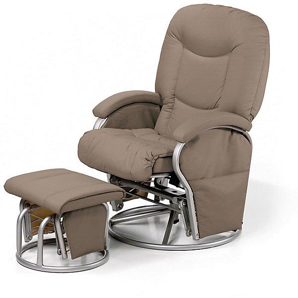 Кресло-качалка для мамы Metal Glider, Hauck, cremeКресла-качалки<br>Характеристики: <br><br>• регулируемый угол наклона спинки, 91-120 градусов;<br>• вращающееся сидение, угол поворота 360 градусов;<br>• эргономичная форма сиденья;<br>• мягкие подлокотники;<br>• пуфик для ног, подвижный механизм;<br>• регулируется расстояние от кресла до пуфика;<br>• материал: эко-кожа, металл.<br><br>Размеры:<br><br>• допустимая нагрузка: 120 кг;<br>• размер кресла: 93х72х102 см;<br>• ширина сиденья: 72 см;<br>• высота спинки: 50 см;<br>• вес кресла: 17,5 кг;<br>• вес стульчика: 4,5 кг;<br>• размер стульчика: 44х48х35 см;<br>• вес в упаковке: 22 кг.<br><br>Комплектация:<br><br>• кресло-качалка;<br>• пуфик-качалка;<br>• инструкция.<br><br>Кресло-качалку для мамы Metal Glider, Hauck, black можно купить в нашем интернет-магазине.<br>Ширина мм: 920; Глубина мм: 570; Высота мм: 440; Вес г: 25500; Цвет: кремовый; Возраст от месяцев: -2147483648; Возраст до месяцев: 2147483647; Пол: Унисекс; Возраст: Детский; SKU: 7787280;