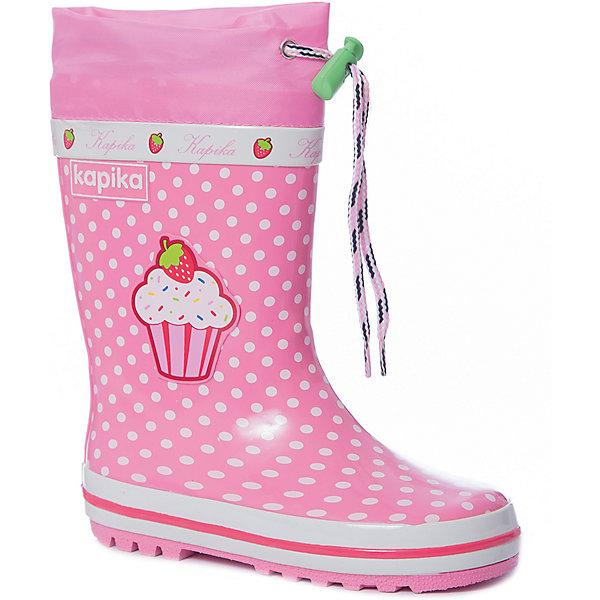 Купить Резиновые сапоги Kapika для девочки, Китай, розовый, 29, 28, 27, 26, 25, 24, 30, Женский