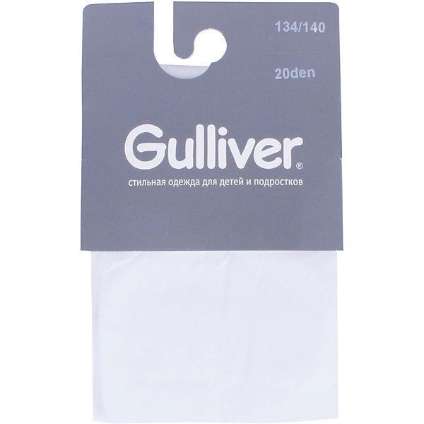 Колготки Gulliver для девочкиКолготки<br>Колготки Gulliver для девочки<br>Сделано в Италии! - эта небольшая пометка на упаковке детских колготок Gulliver - бесспорный знак качества! Италия - страна высоких технологий в производстве чулочно-носочных изделий, что, безусловно, является гарантией прочности и долговечности детских колготок. Если вы хотите купить детские колготки, красивые и качественные колготки от Gulliver гармонично завершат образ ребенка, подарив удобство, комфорт и свободу движений!<br>Состав:<br>20 den micro         94% полиамид  6% эластан<br>Ширина мм: 123; Глубина мм: 10; Высота мм: 149; Вес г: 209; Цвет: белый; Возраст от месяцев: 144; Возраст до месяцев: 156; Пол: Женский; Возраст: Детский; Размер: 158/164,98/104,110/116,122/128,134/140,146/152; SKU: 7788731;