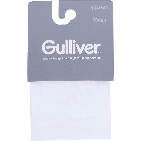 Колготки Gulliver для девочкиКолготки<br>Колготки Gulliver для девочки<br>Сделано в Италии! - эта небольшая пометка на упаковке детских колготок Gulliver - бесспорный знак качества! Италия - страна высоких технологий в производстве чулочно-носочных изделий, что, безусловно, является гарантией прочности и долговечности детских колготок. Если вы хотите купить детские колготки, красивые и качественные колготки от Gulliver гармонично завершат образ ребенка, подарив удобство, комфорт и свободу движений!<br>Состав:<br>94% полиамид  6% эластан<br>Ширина мм: 123; Глубина мм: 10; Высота мм: 149; Вес г: 209; Цвет: белый; Возраст от месяцев: 120; Возраст до месяцев: 132; Пол: Женский; Возраст: Детский; Размер: 146/152,158/164,98/104,110/116,122/128,134/140; SKU: 7788752;
