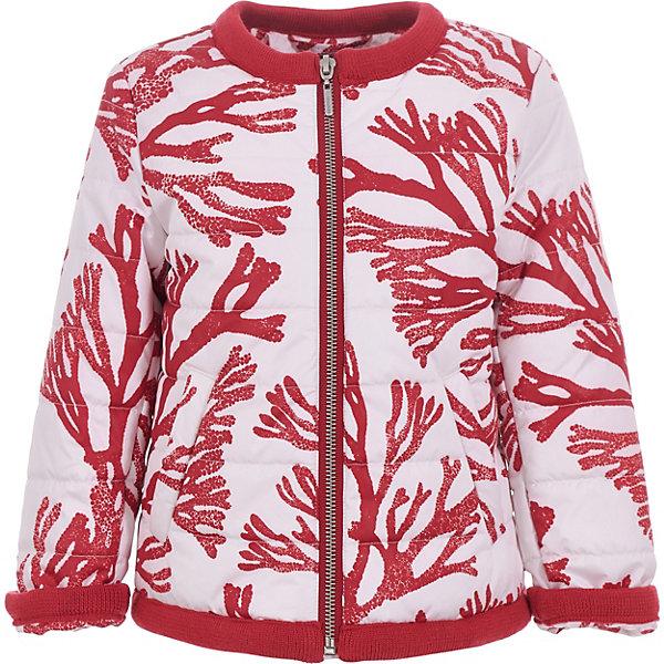 Куртка Gulliver для девочкиВерхняя одежда<br>Куртка Gulliver для девочки<br>Собираясь купить детскую куртку, родители просматривают десятки вариантов. Цвет, материал, функциональность… Вы снова и снова перечисляете необходимые характеристики, стараясь ничего не забыть. Увидев модель из коллекции Коралловый остров, у вас не будет сомнений. Эта весенняя куртка вызывает восторг и желание обладать ею немедленно! Мягкая плащевка с ярким рисунком, модная форма, комфортный крой и отделка делают куртку яркой, красивой, запоминающейся. Она настраивает на позитив и дарит положительные эмоции. Если вы решили купить красивую практичную куртку для весны и прохладного лета, эта модель с рисунком - отличный выбор для комфорта и хорошего настроения юной модницы!<br>Состав:<br>верх:   100% полиэстер; подкладка:  100% хлопок ; утеплитель:  100% полиэстер<br>Ширина мм: 356; Глубина мм: 10; Высота мм: 245; Вес г: 519; Цвет: белый; Возраст от месяцев: 24; Возраст до месяцев: 36; Пол: Женский; Возраст: Детский; Размер: 98,116,110,104; SKU: 7789001;