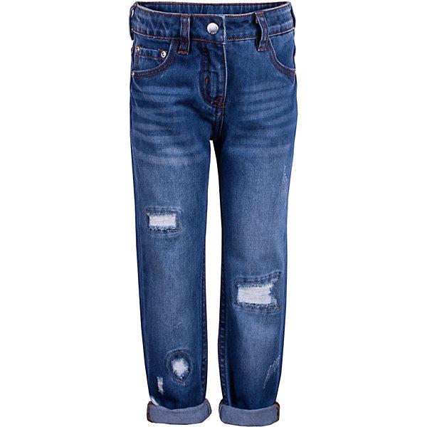 Джинсы Gulliver для девочкиДжинсовая одежда<br>Брюки Gulliver для девочки<br>Джинсы бойфренд для девочки с актуальными потертостями и повреждениями сделают образ юной модницы стильным и современным! Синие джинсы, ставшие классикой повседневного стиля - идеальный вариант для теплой весенней погоды. Удобные и практичные, джинсы из хлопка гарантируют комфорт и свободу движений. Если вы решили сформировать модный весенне-летний гардероб ребенка, вам стоит купить детские джинсы бойфренд для создания нового интересного образа своей малышки.<br>Состав:<br>100% хлопок<br>Ширина мм: 215; Глубина мм: 88; Высота мм: 191; Вес г: 336; Цвет: синий; Возраст от месяцев: 24; Возраст до месяцев: 36; Пол: Женский; Возраст: Детский; Размер: 98,116,110,104; SKU: 7789016;