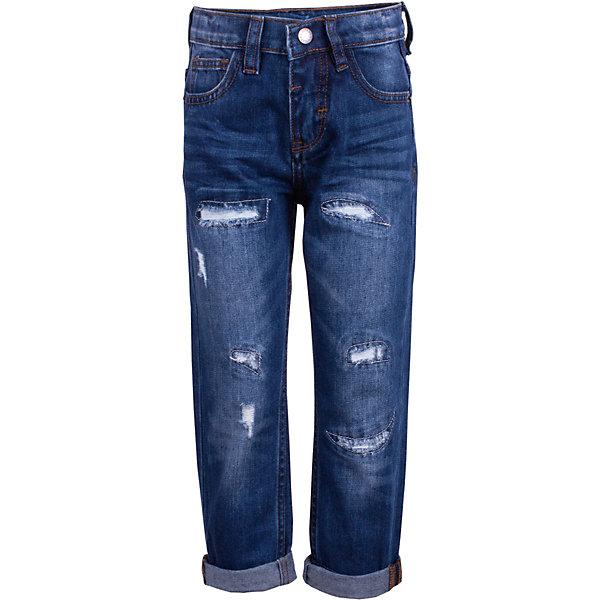 Джинсы Gulliver для мальчикаДжинсы<br>Брюки Gulliver для мальчика<br>Модные джинсы для мальчика с актуальными потертостями, варкой и заплатками сделают образ юного джентльмена дерзким и современным! Синие джинсы, ставшие классикой повседневного стиля - идеальный вариант для весенней погоды. Удобные и практичные, джинсы из хлопка гарантируют комфорт и свободу движений. Если вы хотите купить детские джинсы, которые подчеркнут стиль и индивидуальность вашего ребенка, эти классные джинсы - лучшее решение для весны и лета!<br>Состав:<br>100% хлопок<br>Ширина мм: 215; Глубина мм: 88; Высота мм: 191; Вес г: 336; Цвет: синий; Возраст от месяцев: 60; Возраст до месяцев: 72; Пол: Мужской; Возраст: Детский; Размер: 116,98,104,110; SKU: 7789119;