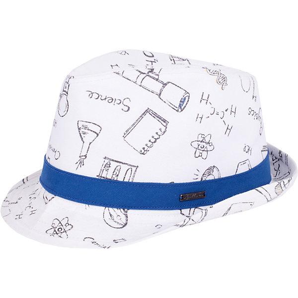 Шляпа Gulliver для мальчикаГоловные уборы<br>Шляпа Gulliver для мальчика<br>Конечно, детскую шляпу едва ли можно отнести к обязательному атрибуту функционального гардероба… Эта вещь - яркий акцент, способный подчеркнуть индивидуальность и оригинальность ребенка. Шляпа для мальчика из коллекции Фарадей - выразительный аксессуар, который украсит летний гардероб и сделает его свежим и интересным.<br>Состав:<br>100% хлопок<br>Ширина мм: 89; Глубина мм: 117; Высота мм: 44; Вес г: 155; Цвет: белый; Возраст от месяцев: 24; Возраст до месяцев: 36; Пол: Мужской; Возраст: Детский; Размер: 50; SKU: 7789129;