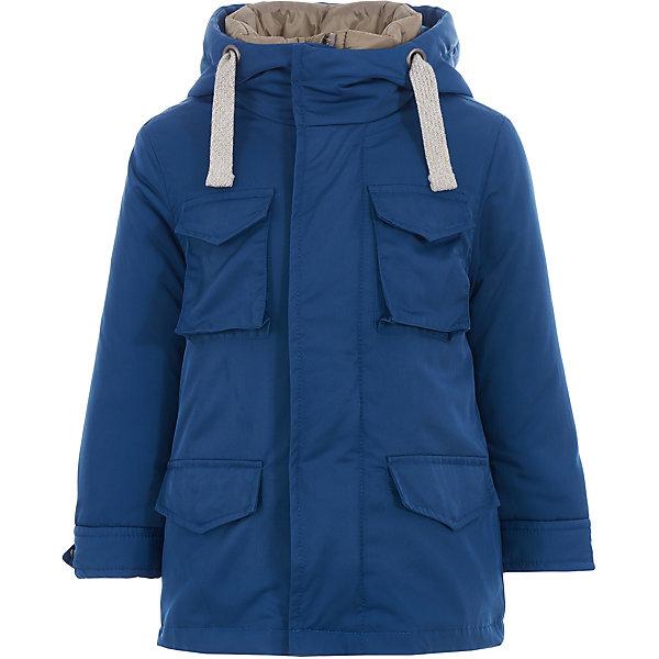 Куртка Gulliver для мальчикаВерхняя одежда<br>Куртка Gulliver для мальчика<br>Купить детскую куртку - такую задачу ставят перед собой мамы мальчиков, отправляясь на весенний шопинг. Хорошая утепленная куртка для мальчика - вещь совершенно необходимая! Неустойчивая мартовская погода требует одеться не менее основательно, чем зимой, но весеннее настроение требует быть обновленным, стильным, современным! Модная куртка-парка - именно то что вам нужно! Изюминка модели в цветовом контрасте плащевой ткани верха и подкладки! Модная форма, интересные функциональные детали, отделка делают изделие свежим и современным.<br>Состав:<br>верх:  62% полиэстер 38% нейлон; подкладка:  100% полиэстер; утеплитель:  100% полиэстер<br>Ширина мм: 356; Глубина мм: 10; Высота мм: 245; Вес г: 519; Цвет: бирюзовый; Возраст от месяцев: 24; Возраст до месяцев: 36; Пол: Мужской; Возраст: Детский; Размер: 98,116,110,104; SKU: 7789216;