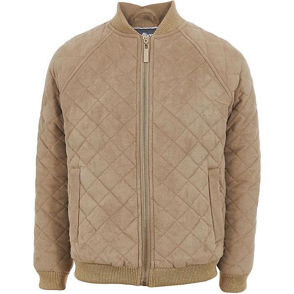 Купить Куртка Gulliver для девочки, Китай, бежевый, 122, 140, 134, 128, Женский