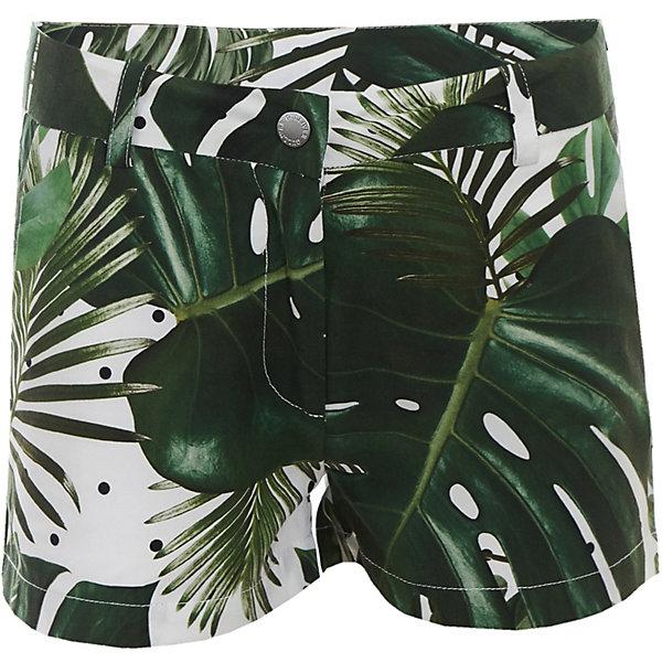 Шорты Gulliver для девочкиШорты, бриджи, капри<br>Характеристики товара:<br><br>• цвет: зелёный;<br>• состав ткани: 100% вискоза;<br>• застёжка: ширинка на молнии и пуговица;<br>• джинсовые шорты;<br>• наличие шлёвок для ремня;<br>• два накладных кармана сзади;<br>• коллекция: Тропический лес;<br>• страна бренда: Россия.<br><br>Модные шорты – незаменимая часть гардероба девочки. Классные легкие шорты с ярким тропическим рисунком сделают каждый день ребенка солнечным и комфортным! <br><br>Шорты Gulliver (Гулливер) можно купить в нашем интернет-магазине.<br>Ширина мм: 191; Глубина мм: 10; Высота мм: 175; Вес г: 273; Цвет: разноцветный; Возраст от месяцев: 72; Возраст до месяцев: 84; Пол: Женский; Возраст: Детский; Размер: 122,140,134,128; SKU: 7789449;