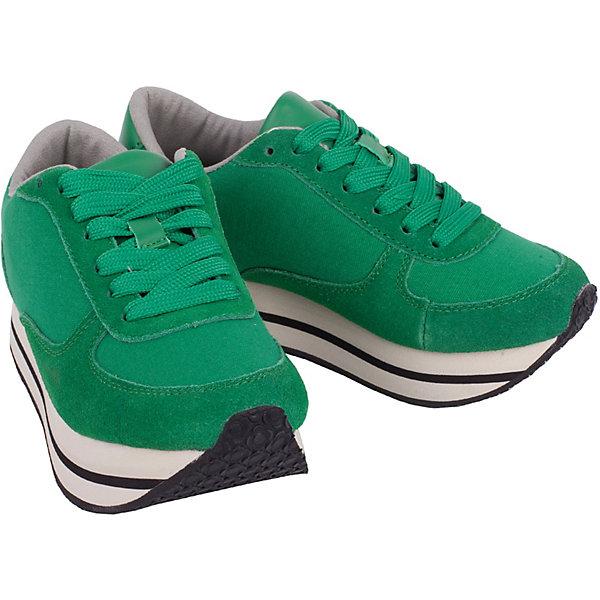 Кроссовки Gulliver для девочкиКроссовки<br>Кроссовки Gulliver для девочки<br>Кеды, кроссовки, слипоны… С каждым днем спортивная обувь все больше входит в жизнь наших детей, вытесняя привычные мокасины, босоножки, туфли. Зеленые кроссовки на толстой подошве - мечта каждой модницы! Они отлично завершат любой образ в спортивном и casual стиле, придав ему остроту, динамику и индивидуальность. Стильный дизайн, красивая форма, натуральные материалы - ну что еще нужно для модного комфортного лета? Если вы хотите купить кроссовки для девочки, создающие настроение, выбор этой модели - правильное решение!<br>Состав:<br>Верх: кожа+канвас+нат замша; подклад и стелька: хлопок; подошва: ЕВА+резина<br>Ширина мм: 250; Глубина мм: 150; Высота мм: 150; Вес г: 250; Цвет: зеленый; Возраст от месяцев: 72; Возраст до месяцев: 84; Пол: Женский; Возраст: Детский; Размер: 30,36,35,34,33,32,31; SKU: 7789473;