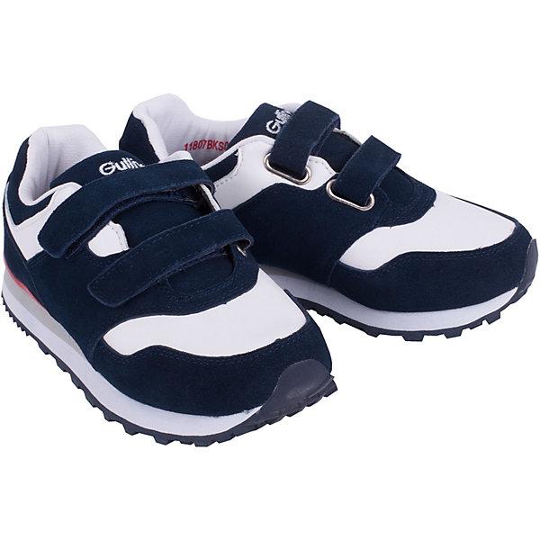 Кроссовки Gulliver для мальчикаКроссовки<br>Кроссовки Gulliver для мальчика<br>Кеды, кроссовки, слипоны… С каждым днем спортивная обувь все больше входит в жизнь наших детей, вытесняя привычные мокасины, сандалии, туфли. Яркие кроссовки, построенные на сочетании двух цветов - мечта каждого модника! Они отлично завершат любой образ в спортивном и casual стиле, придав ему остроту, динамику и индивидуальность. Стильный дизайн, красивая форма, натуральные материалы - ну что еще нужно для модного комфортного лета? Если вы хотите купить кроссовки для мальчика, создающие настроение, выбор этой модели - правильное решение!<br>Состав:<br>Верх: нат замша+кожа; подклад и стелька: хлопок; подошва: ЕВА+резина<br>Ширина мм: 250; Глубина мм: 150; Высота мм: 150; Вес г: 250; Цвет: белый; Возраст от месяцев: 144; Возраст до месяцев: 156; Пол: Мужской; Возраст: Детский; Размер: 36,30,31,32,33,34,35; SKU: 7789609;
