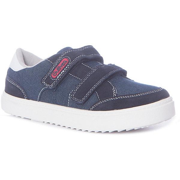 Кеды Gulliver для мальчикаКеды<br>Кеды Gulliver для мальчика<br>Синие джинсовые кеды с замшевой отделкой красиво завершат повседневный образ ребенка. Если вы решили приобрести мальчику стильную и практичную обувь, вам стоит купить детские кеды из коллекции Команда 1997. В них ребенок будет чувствовать себя уверенно и комфортно. Мальчик по достоинству оценит модель без шнурков! Оформление изделия застежкой велькро(липучка) - удобство, сокращающее время при сборах на занятия или прогулку.<br>Состав:<br>Верх: джинс + натуральная замша;             подкладка, стелька: хлопок; подошва: резина<br>Ширина мм: 250; Глубина мм: 150; Высота мм: 150; Вес г: 250; Цвет: темно-синий; Возраст от месяцев: 72; Возраст до месяцев: 84; Пол: Мужской; Возраст: Детский; Размер: 30,36,35,34,33,32,31; SKU: 7789625;