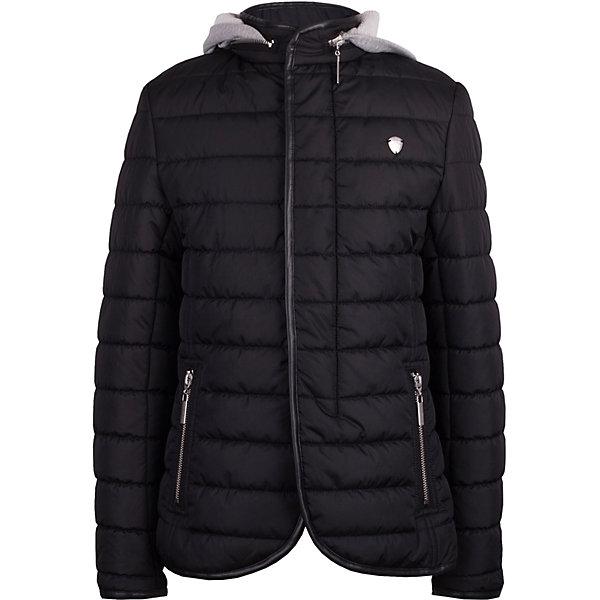 Куртка Gulliver для мальчикаДемисезонные куртки<br>Куртка Gulliver для мальчика<br>Хорошая утепленная куртка для мальчика - вещь совершенно необходимая! Неустойчивая мартовская погода заставляет одеться не менее основательно, чем зимой, но весеннее настроение требует быть обновленным, стильным, современным! Модная стеганая куртка-пиджак - именно то что нужно! Она выглядит интересно, солидно, достойно, придавая весеннему образу ребенка элегантность. При этом, куртка бесконечно удобна, не стесняет движений и позволяет мальчику быть самим собой. Трикотажный капюшон и планка создают ощущение актуальной многослойности. Если вы хотите купить детскую куртку не только для функциональности, но и для хорошего внешнего вида своего ребенка, эта модель - превосходный вариант!<br>Состав:<br>верх:  100% полиэстер; подкладка: 100% хлопок; утеплитель: 100% полиэстер<br>Ширина мм: 356; Глубина мм: 10; Высота мм: 245; Вес г: 519; Цвет: черный; Возраст от месяцев: 72; Возраст до месяцев: 84; Пол: Мужской; Возраст: Детский; Размер: 122,140,134,128; SKU: 7789890;