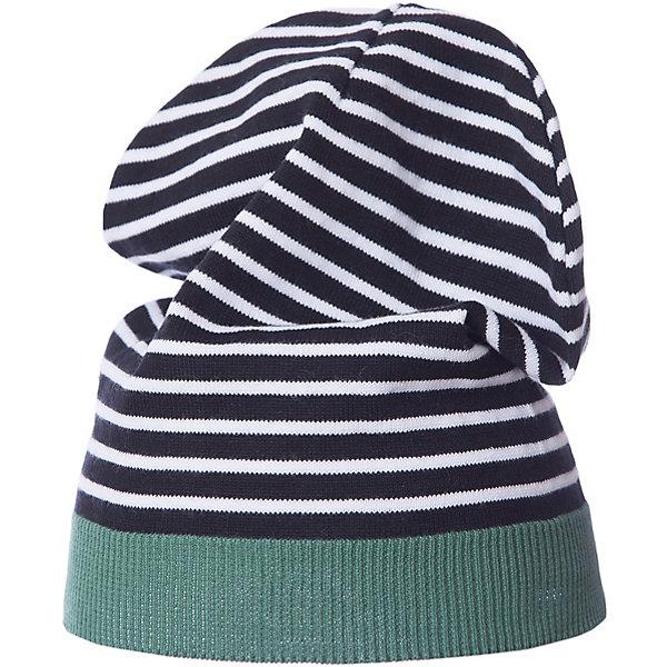 Шапка Gulliver для мальчикаГоловные уборы<br>Шапка Gulliver для мальчика<br>Трикотажная шапка в полоску красиво завершит образ, сделав его новым, свежим, интересным. Если вы хотите сформировать комфортный и позитивный весенне-летний гардероб юного модника, полосатая шапка с контрастной цветной резинкой - отличный выбор.<br>Состав:<br>100% хлопок<br>Ширина мм: 89; Глубина мм: 117; Высота мм: 44; Вес г: 155; Цвет: белый; Возраст от месяцев: 48; Возраст до месяцев: 60; Пол: Мужской; Возраст: Детский; Размер: 52,54; SKU: 7789923;