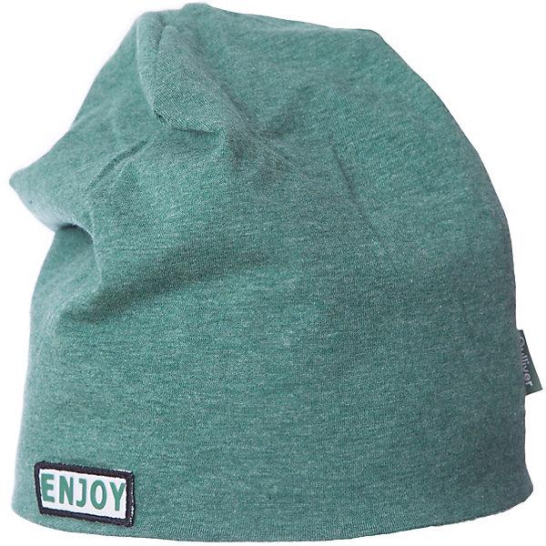 Шапка Gulliver для мальчикаГоловные уборы<br>Шапка Gulliver для мальчика<br>Трикотажная шапка из яркого меланжевого трикотажа красиво завершит образ, сделав его новым, свежим, интересным. Если вы хотите сформировать комфортный и позитивный весенне-летний гардероб юного модника, зеленая шапка с контрастным брендированным флажком - отличный выбор.<br>Состав:<br>95% хлопок      5% эластан<br>Ширина мм: 89; Глубина мм: 117; Высота мм: 44; Вес г: 155; Цвет: зеленый; Возраст от месяцев: 48; Возраст до месяцев: 60; Пол: Мужской; Возраст: Детский; Размер: 52,54; SKU: 7789926;