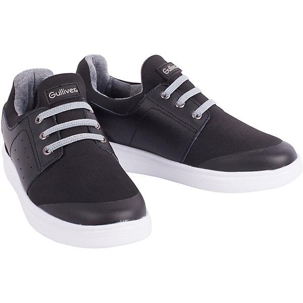 Полуботинки Gulliver для мальчикаБотинки<br>Полуботинки Gulliver для мальчика<br>Кеды, кроссовки, слипоны… С каждым днем спортивная обувь все больше входит в жизнь наших детей, вытесняя привычные мокасины, сандалии, туфли. Стильные черные полуботинки в спортивном стиле - идеальная обувь на каждый день! Они отлично завершат любой look, придав ему остроту, динамику и индивидуальность. Стильный дизайн, красивая форма, мягкость, удобство, комфорт обеспечат подростку возможность не думать об обуви во время городской прогулки или активных игр на свежем воздухе. Если вы хотите купить детские полуботинки на каждый день, выбор этой модели - оптимальное решение!<br>Состав:<br>Верх: текстиль + кожа; подкладка, стелька: хлопок; подошва: филон<br>Ширина мм: 262; Глубина мм: 176; Высота мм: 97; Вес г: 427; Цвет: черный; Возраст от месяцев: 168; Возраст до месяцев: 192; Пол: Мужской; Возраст: Детский; Размер: 40,37,38,39; SKU: 7790244;