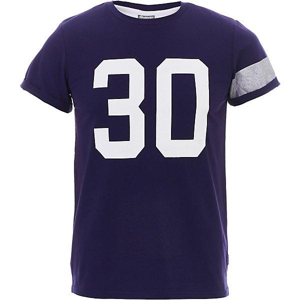 Футболка Gulliver для мальчикаФутболки, поло и топы<br>Футболка Gulliver для мальчика<br>Модная футболка с крупным динамичным принтом должна быть в летнем гардеробе подростка. Она способна повысить настроение и сделать каждый день ребенка комфортным! Синяя футболка для мальчика из коллекции 3D клуб - лучший пример футболки с рисунком: крупный серебряный шрифтовой декор делает футболку стильной, необычной, запоминающейся. Если вы решили обновить летний гардероб ребенка и купить модную футболку на лето, синяя футболка с коротким рукавом прекрасно дополнит любые джинсы, шорты, брюки, создав энергичный современный образ.<br>Состав:<br>95% хлопок      5% эластан<br>Ширина мм: 199; Глубина мм: 10; Высота мм: 161; Вес г: 151; Цвет: темно-синий; Возраст от месяцев: 132; Возраст до месяцев: 144; Пол: Мужской; Возраст: Детский; Размер: 152,158,164,146; SKU: 7790264;