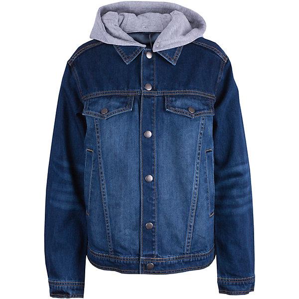 Ветровка Gulliver для мальчикаВерхняя одежда<br>Ветровка Gulliver для мальчика<br>Модная джинсовая куртка для мальчика - изделие на все случаи жизни! Она прекрасно дополнит любой образ в стиле casual, а также станет любимым атрибутом спортивного стиля! Синяя джинсовая куртка с потертостями и эффектной фирменной металлической фурнитурой выполнена из 100% хлопка, что делает ее очень комфортной в носке. Заметным украшением куртки является отстегивающийся капюшон из трикотажного футера. Он придает модели новизну, оригинальность и завершенность, имитируя многослойный комплект.<br>Состав:<br>100% хлопок<br>Ширина мм: 356; Глубина мм: 10; Высота мм: 245; Вес г: 519; Цвет: синий; Возраст от месяцев: 156; Возраст до месяцев: 168; Пол: Мужской; Возраст: Детский; Размер: 164,158,152,146; SKU: 7790299;