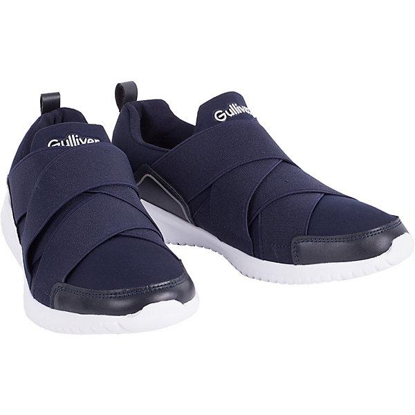 Кроссовки Gulliver для мальчикаКроссовки<br>Кроссовки Gulliver для мальчика<br>Кеды, кроссовки, слипоны… С каждым днем спортивная обувь все больше входит в жизнь наших детей, вытесняя привычные мокасины, сандалии, туфли. Стильные синие кроссовки - идеальная обувь на каждый день! Они отлично завершат любой образ в спортивном и casual стиле, придав ему остроту, динамику и индивидуальность. Стильный дизайн, красивая форма, мягкость, удобство, комфорт обеспечат ребенку возможность не думать об обуви во время городской прогулки или активных игр на свежем воздухе. Если вы хотите купить кроссовки для мальчика на каждый день, выбор этой модели - правильное решение!<br>Состав:<br>Верх: текстиль + полиуретан; подкладка, стелька: хлопок; подошва: филон<br>Ширина мм: 262; Глубина мм: 176; Высота мм: 97; Вес г: 427; Цвет: темно-синий; Возраст от месяцев: 168; Возраст до месяцев: 192; Пол: Мужской; Возраст: Детский; Размер: 40,37,38,39; SKU: 7790345;