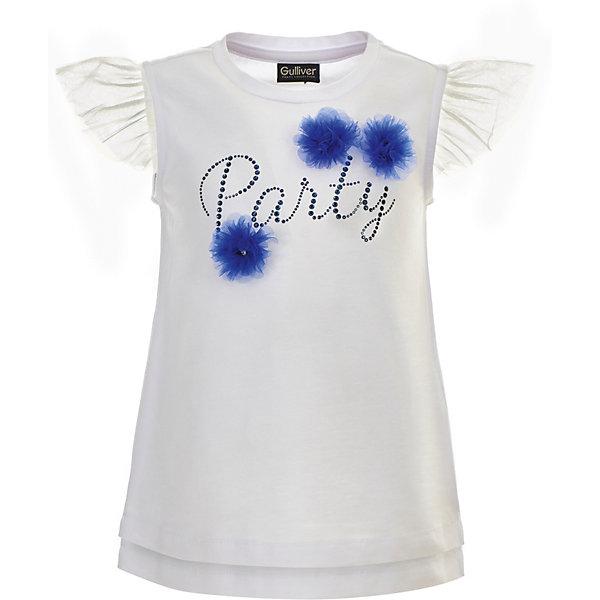 Блузка Gulliver для девочкиБлузки и рубашки<br>Блузка Gulliver для девочки<br>Белая блузка без рукавов – классика жанра! Очаровательная белая блузка с игривыми крылышками из сетки и интересным объемным декором сделает образ ребенка свежим и оригинальным! Если вы хотите купить нарядную блузку для девочки, модель из коллекции Ницца - отличный вариант! Идеальное сочетание с пышной юбкой и болеро сделают блузку незаменимой для создания нарядного образа юной принцессы. Стильный дизайн и высокое качество исполнения принесут удовольствие от покупки и подарят отличное настроение!<br>Состав:<br>95% хлопок      5% эластан<br>Ширина мм: 186; Глубина мм: 87; Высота мм: 198; Вес г: 197; Цвет: белый; Возраст от месяцев: 24; Возраст до месяцев: 36; Пол: Женский; Возраст: Детский; Размер: 98,116,110,104; SKU: 7790438;
