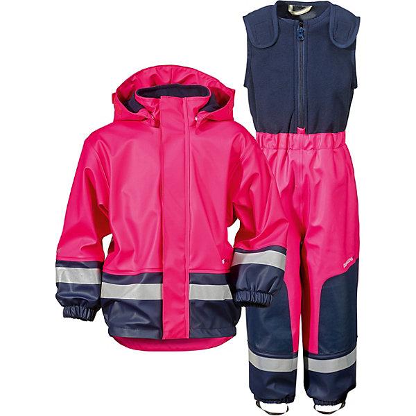Комплект: куртка и полукомбинезон BOARDMAN DIDRIKSONS1913Верхняя одежда<br>Характеристики товара:<br><br>• цвет: розовый;<br>• внешняя ткань: 100% полиуретан; <br>• подкладка: 100% полиэстер трикотаж (флис);<br>• водонепроницаемость: 8000 мм.<br>• паропроводимость: 4000 г/м2/24ч <br>• температурный режим: от -3С до +10С;<br>• сезон: демисезон;<br>• спецобработка внутренних поверхностей;<br>• полная защита  тела верхней и нижней  частей тела;<br>• 4-х-сторонний стретч, эластичный трикотаж;<br>• съемный капюшон;<br>• регулируемый  капюшон;<br>• регулировка жилетки;<br>• защита для подбородка;<br>• светоотражатели;<br>• петли для ботинок;<br>• области одежды с усиленной  защитой;<br>• фронтальная молния под планкой;<br>• страна бренда: Швеция.<br><br>Водонепроницаемый (прорезиненный), ветронепродуваемый костюм «BOARDMAN» от производителя DIDRIKSONS1913 - отличный вариант для игр на улице  в ненастные дни, так как он сделан из специального прорезиненного материала. В нем можно играть в лужах и мокром снеге ранней осенью и поздней весной, не боясь при этом промокнуть. <br><br>Комбинезон выполнен из полиуретана, швы запаяны, подкладка из флиса. Большое количество функциональных деталей: съемный регулируемый капюшон, застежка-молния с защитой подбородка, регулируемый верх туловища,  штрипки на ботинки, светоотражающие нашивки для безопасности.<br><br>Костюм Boardman от DIDRIKSONS был признан самым прочным среди 12 других марок одежды от дождя в тесте, который проводился в мае-июне шведским журналом Vi F?r?ldrar. Хорошая одежда от дождя должна еще отлично защищать от слякоти и грязи.  Костюм Boardman с теплой подкладкой из флиса рассчитан на прохладную погоду. В коллекции одежды для детей представлены также изделия из полиуретана без подкладки и водонепроницаемых тканей, и каждое изделие протестировано в  лаборатории компании DIDRIKSONS.  <br><br>Костюм «BOARDMAN» от бренда DIDRIKSONS1913 (Дидриксон1913) можно купить в нашем интернет-магазине.<br>Ширина мм: 356; Глубина мм: