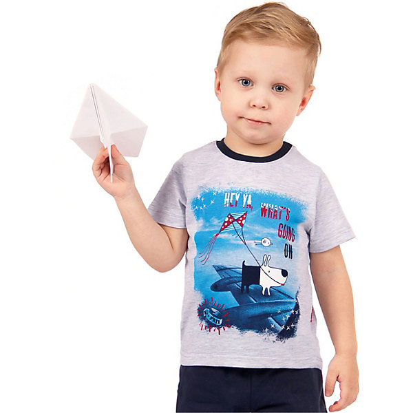 Футболка АпрельФутболки, поло и топы<br>Характеристики товара:<br><br>• цвет: серый<br>• состав ткани: 70% хлопок, 30% полиэстер<br>• сезон: лето<br>• короткие рукава<br>• с рисунком<br>• страна бренда: Россия<br><br>Серая футболка для ребенка от популярного бренда Апрель декорирована оригинальным принтом. Материал этой детской футболки - чистый натуральный хлопок, который позволит создать комфортные условия для тела. Такая футболка для детей смотрится эффектно и стильно.<br><br>Футболку Апрель можно купить в нашем интернет-магазине.<br>Ширина мм: 190; Глубина мм: 74; Высота мм: 229; Вес г: 236; Цвет: светло-серый; Возраст от месяцев: 12; Возраст до месяцев: 18; Пол: Унисекс; Возраст: Детский; Размер: 86,116,110,104,98,92; SKU: 7799538;
