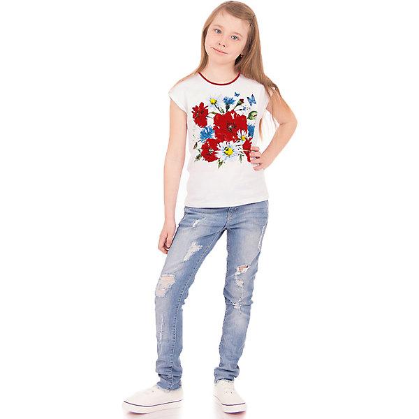 Футболка АпрельФутболки, поло и топы<br>Характеристики товара:<br><br>• цвет: белый<br>• состав ткани: 100% хлопок<br>• сезон: лето<br>• без рукавов<br>• с рисунком<br>• страна бренда: Россия<br><br>Эффектная блузка для ребенка украшена стильным принтом. Хлопковая детская блузка сделана из качественного дышащего материала, безопасного для детей. Такая блузка для детей от известного бренда Апрель может стать удобной и модной вещью для летнего гардероба. <br><br>Блузку Апрель можно купить в нашем интернет-магазине.<br>Ширина мм: 190; Глубина мм: 74; Высота мм: 229; Вес г: 236; Цвет: белый; Возраст от месяцев: 120; Возраст до месяцев: 132; Пол: Унисекс; Возраст: Детский; Размер: 146,116,122,128,134,140; SKU: 7799563;