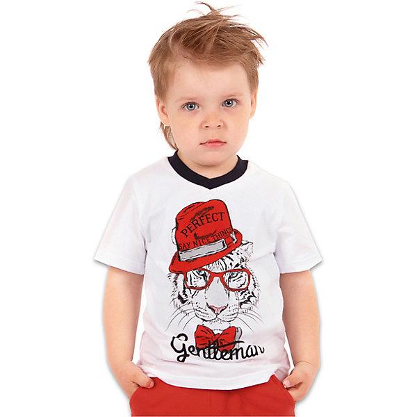 Футболка АпрельФутболки, поло и топы<br>Характеристики товара:<br><br>• цвет: белый<br>• состав ткани: 100% хлопок<br>• сезон: лето<br>• короткие рукава<br>• с рисунком<br>• страна бренда: Россия<br><br>Белая футболка для детей от известного бренда Апрель может стать основой для составления множества модных нарядов. Мягкая футболка для ребенка украшена стильным принтом. Эта детская футболка сделана из качественного дышащего материала, безопасного для детей.<br><br>Футболку Апрель можно купить в нашем интернет-магазине.<br>Ширина мм: 190; Глубина мм: 74; Высота мм: 229; Вес г: 236; Цвет: белый; Возраст от месяцев: 12; Возраст до месяцев: 18; Пол: Унисекс; Возраст: Детский; Размер: 86,116,110,104,98,92; SKU: 7799673;