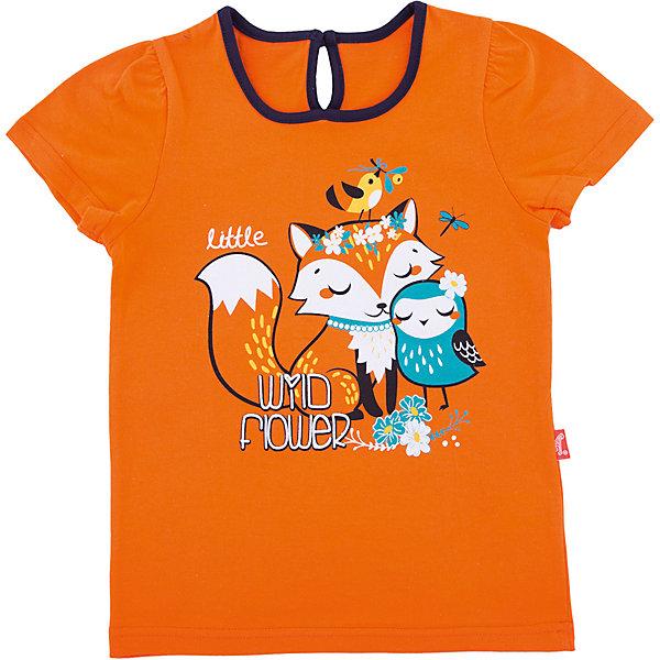 Футболка АпрельФутболки, поло и топы<br>Характеристики товара:<br><br>• цвет: оранжевый<br>• состав ткани: 100% хлопок<br>• сезон: лето<br>• застежка: пуговица<br>• короткие рукава<br>• с рисунком<br>• страна бренда: Россия<br><br>Хлопковая футболка для детей от российского бренда Апрель отличается высоким качеством пошива. Такая детская футболка сшита из легкого дышащего материала, её швы тщательно обработаны. Эта футболка для ребенка декорирована эффектным принтом. <br><br>Футболку Апрель можно купить в нашем интернет-магазине.<br>Ширина мм: 190; Глубина мм: 74; Высота мм: 229; Вес г: 236; Цвет: оранжевый; Возраст от месяцев: 12; Возраст до месяцев: 18; Пол: Унисекс; Возраст: Детский; Размер: 86,116,110,104,98,92; SKU: 7800027;