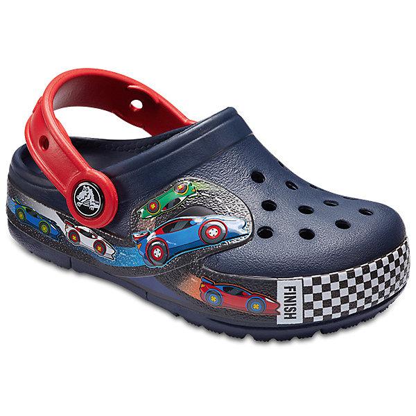 Сабо  CROCS для мальчикаПляжная обувь<br>Сабо  CROCS для мальчика<br>Crocband Fun Lab Lights Clg K<br>Состав:<br>100% полимер Croslite™<br>Ширина мм: 225; Глубина мм: 139; Высота мм: 112; Вес г: 290; Цвет: темно-синий; Возраст от месяцев: 108; Возраст до месяцев: 120; Пол: Мужской; Возраст: Детский; Размер: 33/34,31/32,27/28,26,25,24,30/31,23,29/30,28/29,34/35; SKU: 7841320;