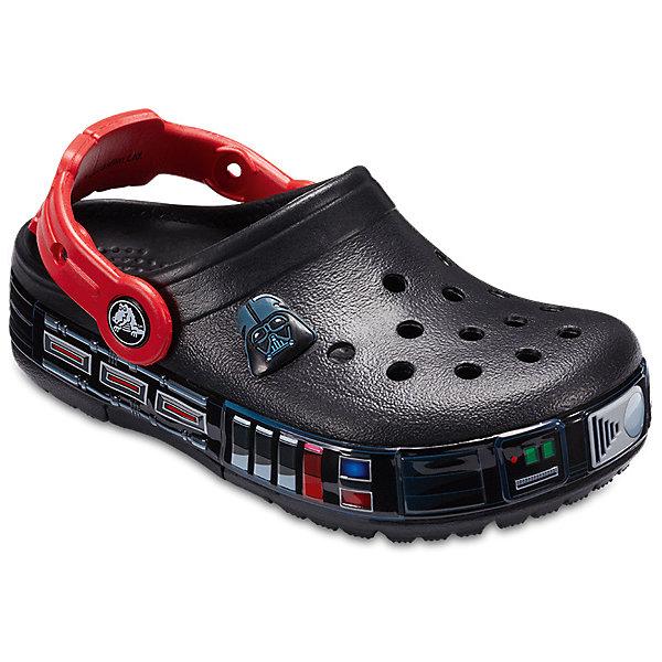Сабо Star Wars CROCS для мальчикаПляжная обувь<br>Сабо Star Wars CROCS для мальчика<br>CB FL Darth Vader Lights Clg K<br>Состав:<br>100% полимер Croslite™<br>Ширина мм: 225; Глубина мм: 139; Высота мм: 112; Вес г: 290; Цвет: черный; Возраст от месяцев: 24; Возраст до месяцев: 24; Пол: Мужской; Возраст: Детский; Размер: 25,24,23,34/35,33/34,31/32,30/31,29/30,28/29,27/28,26; SKU: 7841630;