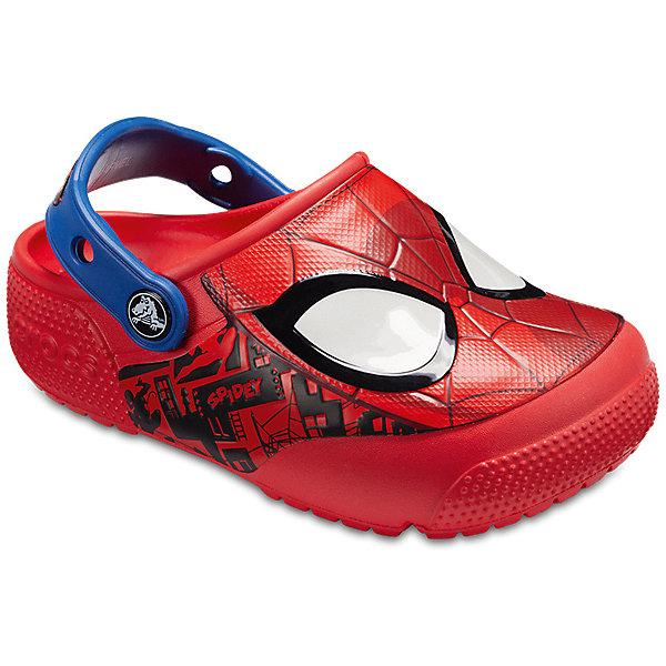 Сабо Spider-Man CROCS для мальчикаПляжная обувь<br>Сабо Spider-Man CROCS для мальчика<br>Crocs FL SpiderMan Lght Clog K<br>Состав:<br>100% полимер Croslite™<br>Ширина мм: 225; Глубина мм: 139; Высота мм: 112; Вес г: 290; Цвет: красный; Возраст от месяцев: 12; Возраст до месяцев: 15; Пол: Мужской; Возраст: Детский; Размер: 21,34/35,33/34,31/32,30/31,29/30,28/29,27/28,26,25,24,23,22; SKU: 7841696;