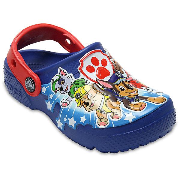 Сабо Paw Patrol CROCS для мальчикаПляжная обувь<br>Характеристики товара:<br><br>• цвет: синий;<br>• состав: 100% полимер Croslite™;<br>• сезон: лето;<br>• температурный режим: от +20;<br>• модель: закрытые;<br>• яркий рисунок;<br>• застежка: пяточный ремешок;<br>• непромокаемые;<br>• вентилируемые;<br>• рельефный рисунок подошвы;<br>• анатомические;<br>• светоотражающий логотип в области пятки;<br>• страна бренда: США<br><br>Сабо для мальчика Crocs  придутся по душе вашему ребенку, ведь они выполнены в яркой комбинации цветов с изображением веселых героев мультфильма Paw Patrol. Такие сабо не оставят никого равнодушным. <br><br>Модель полностью выполнена из полимерного материала. Съемный пяточный ремешок, оформленный названием бренда, предназначен для фиксации стопы при ходьбе. Рифление на подошве гарантирует идеальное сцепление с любой поверхностью. <br><br>Благодаря материалу Croslite обувь невероятно легкая, мягкая и удобная. Материал Croslite - бактериостатичен, препятствует появлению неприятных запахов и легок в уходе: быстро сохнет и не оставляет следов на любых поверхностях. <br><br>Сабо для мальчика Paw Patrol CROCS  (Крокс) можно купить в нашем интернет-магазине.<br>Ширина мм: 225; Глубина мм: 139; Высота мм: 112; Вес г: 290; Цвет: синий; Возраст от месяцев: 12; Возраст до месяцев: 15; Пол: Мужской; Возраст: Детский; Размер: 21,30/31,29/30,28/29,27/28,26,25,24,23,22; SKU: 7841915;