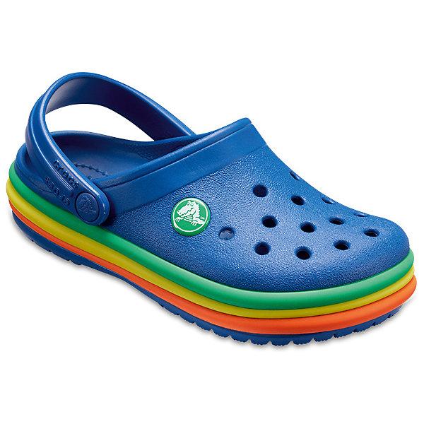 Сабо  CROCS для мальчикаПляжная обувь<br>Сабо  CROCS для мальчика<br>CB Rainbow Band Clog K<br>Состав:<br>100% полимер Croslite™<br>Ширина мм: 225; Глубина мм: 139; Высота мм: 112; Вес г: 290; Цвет: синий; Возраст от месяцев: 12; Возраст до месяцев: 15; Пол: Мужской; Возраст: Детский; Размер: 21,34/35,33/34,31/32,30/31,29/30,28/29,27/28,26,25,24,23,22; SKU: 7841948;