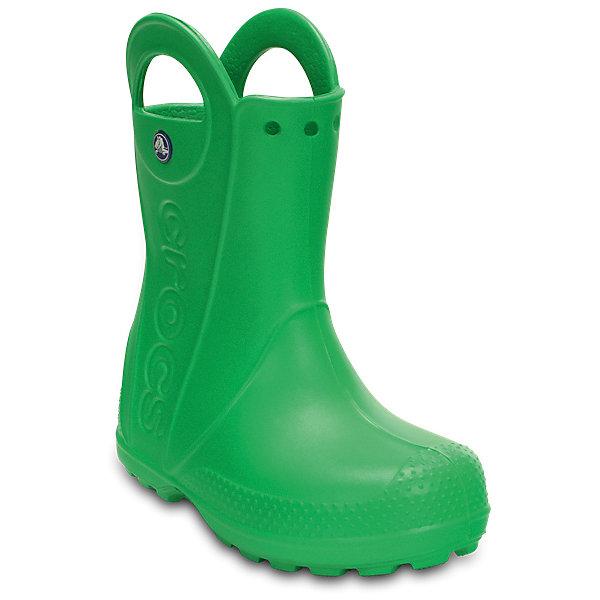 Резиновые сапоги  CROCSРезиновые сапоги<br>Резиновые сапоги  CROCS <br>Handle It Rain Boot Kids<br>Состав:<br>100% полимер Croslite™<br>Ширина мм: 237; Глубина мм: 180; Высота мм: 152; Вес г: 438; Цвет: зеленый; Возраст от месяцев: 18; Возраст до месяцев: 21; Пол: Унисекс; Возраст: Детский; Размер: 23,34/35,33/34,31/32,30,29,28,27,26,25,24; SKU: 7892143;